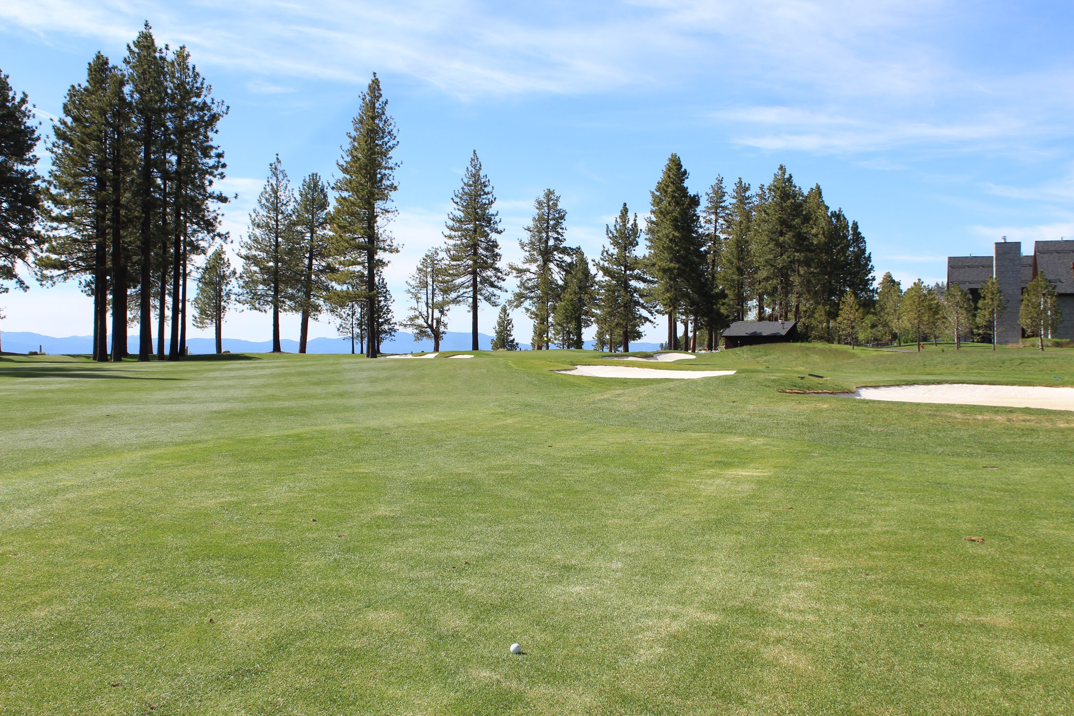 Newly renovated #9 is now along the water where the old parking lot used to be! The Lodge takes up the area that #9 used to be on. It makes for a way prettier hole now!