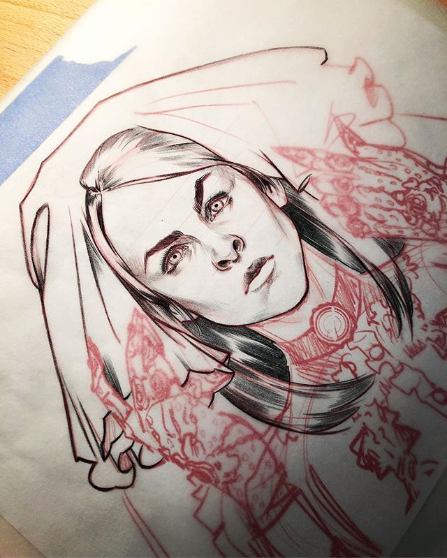Working on a new print for @earpexpo. #wynonnaearp #danikind #danifuckingkind