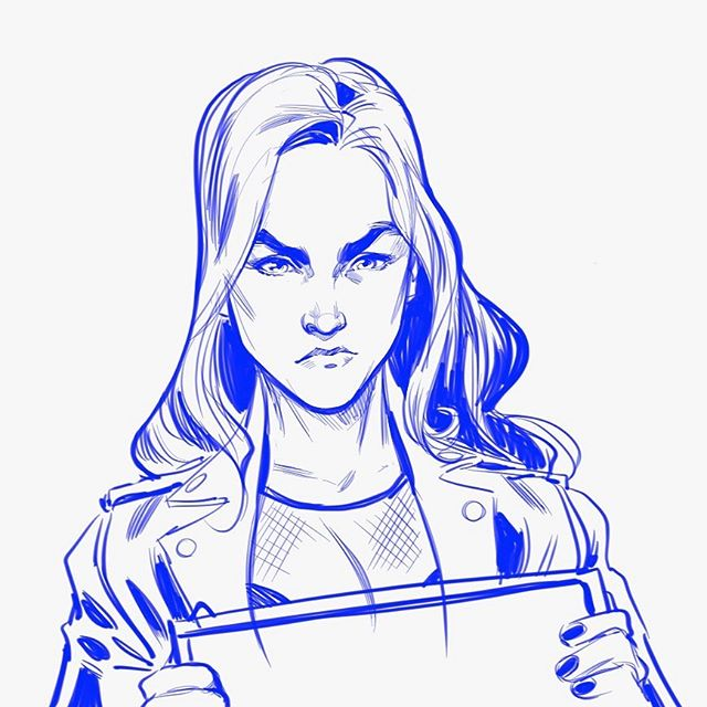 Fight Face.  #fightforwynonna #wynonnaearp #dontfwithmyf #earpexpo #melaniescrofano #womenincomics #sketchbookpro #womeninanimation