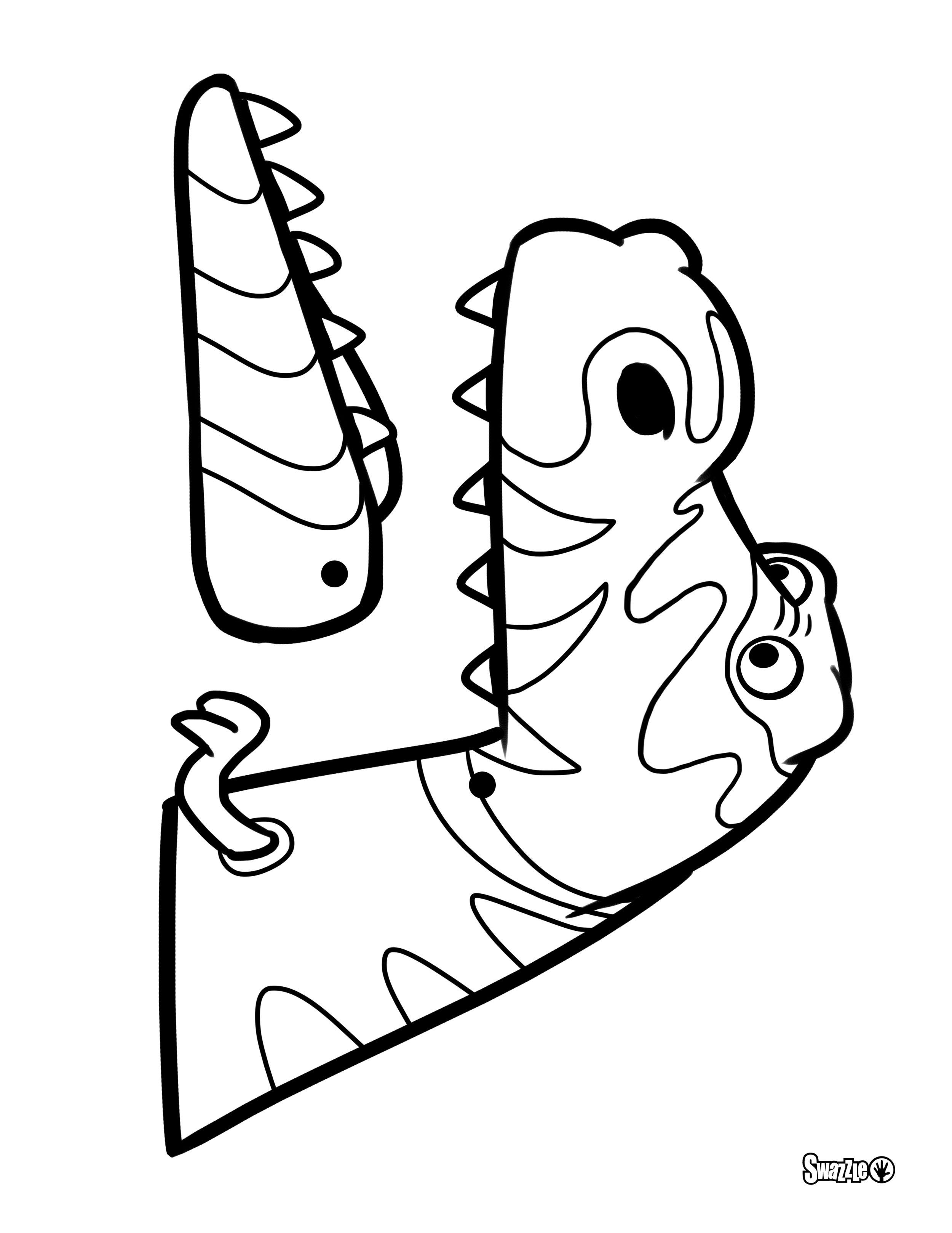 T-Rex rod puppet