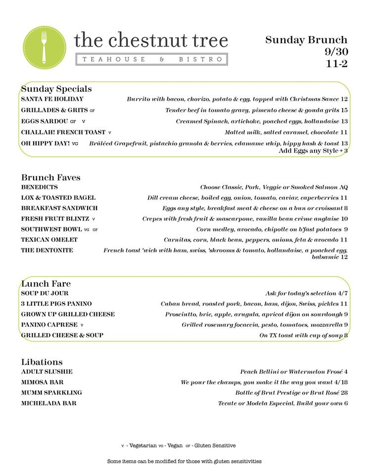 9-30 Brunch Menu