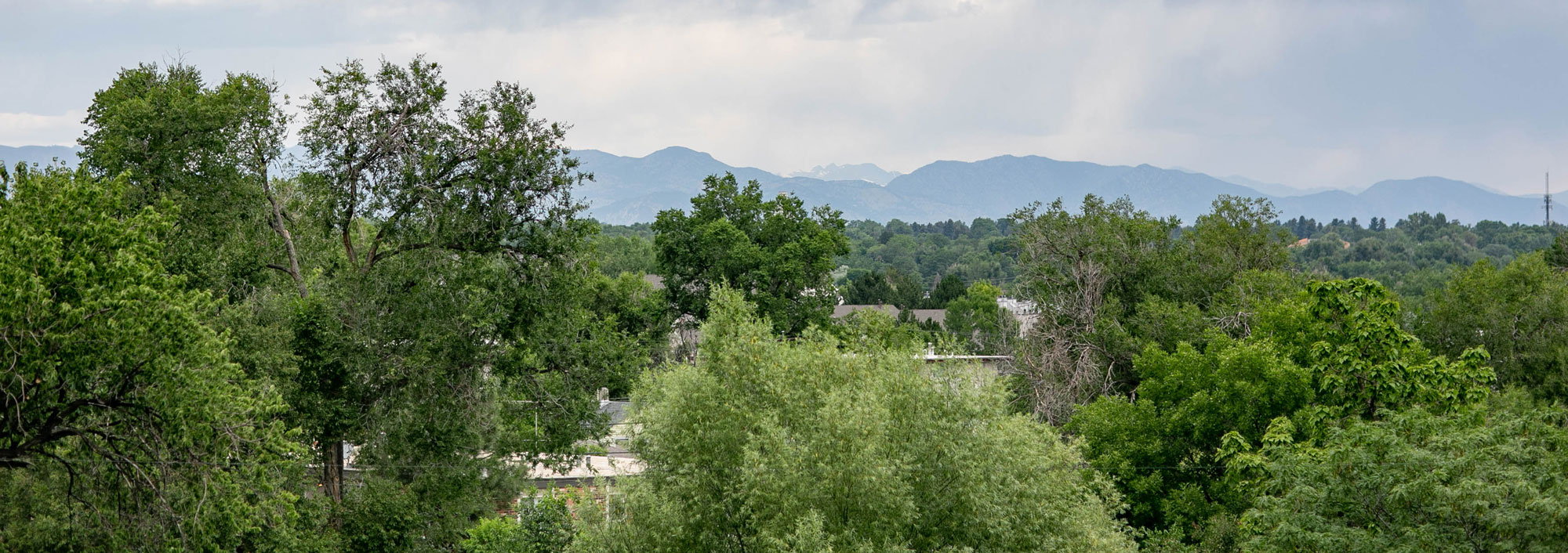 Looking west, you'll enjoy mountain views and Colorado sunsets from your own private rooftop.