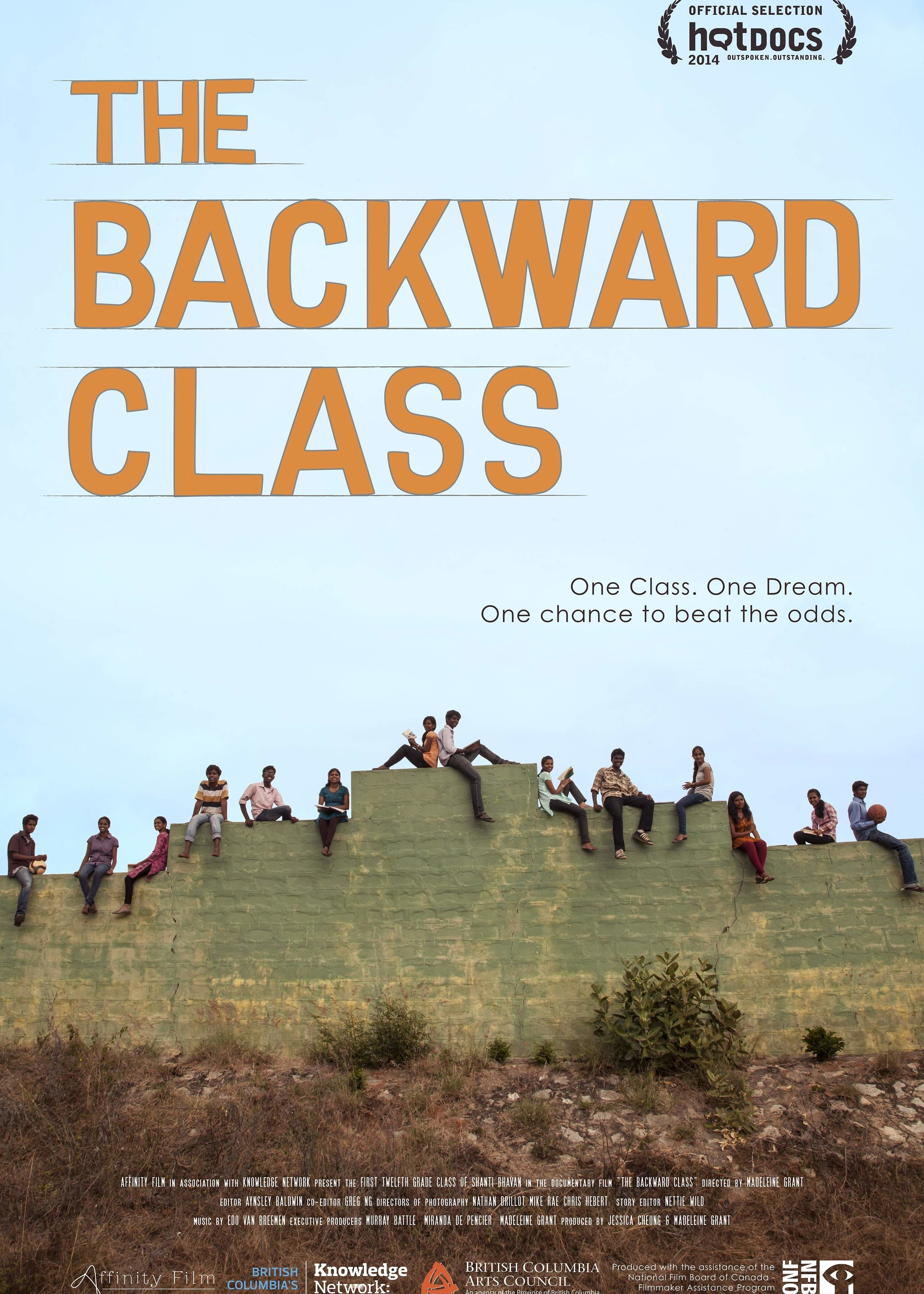 The Backward Class - 2014, Canada/India, 91 min, in EnglishThe Backward Class is a feature length documentary featuring the first class of dalit ('untouchable') caste students to attempt the Indian School Certificate exams & aspire for university.