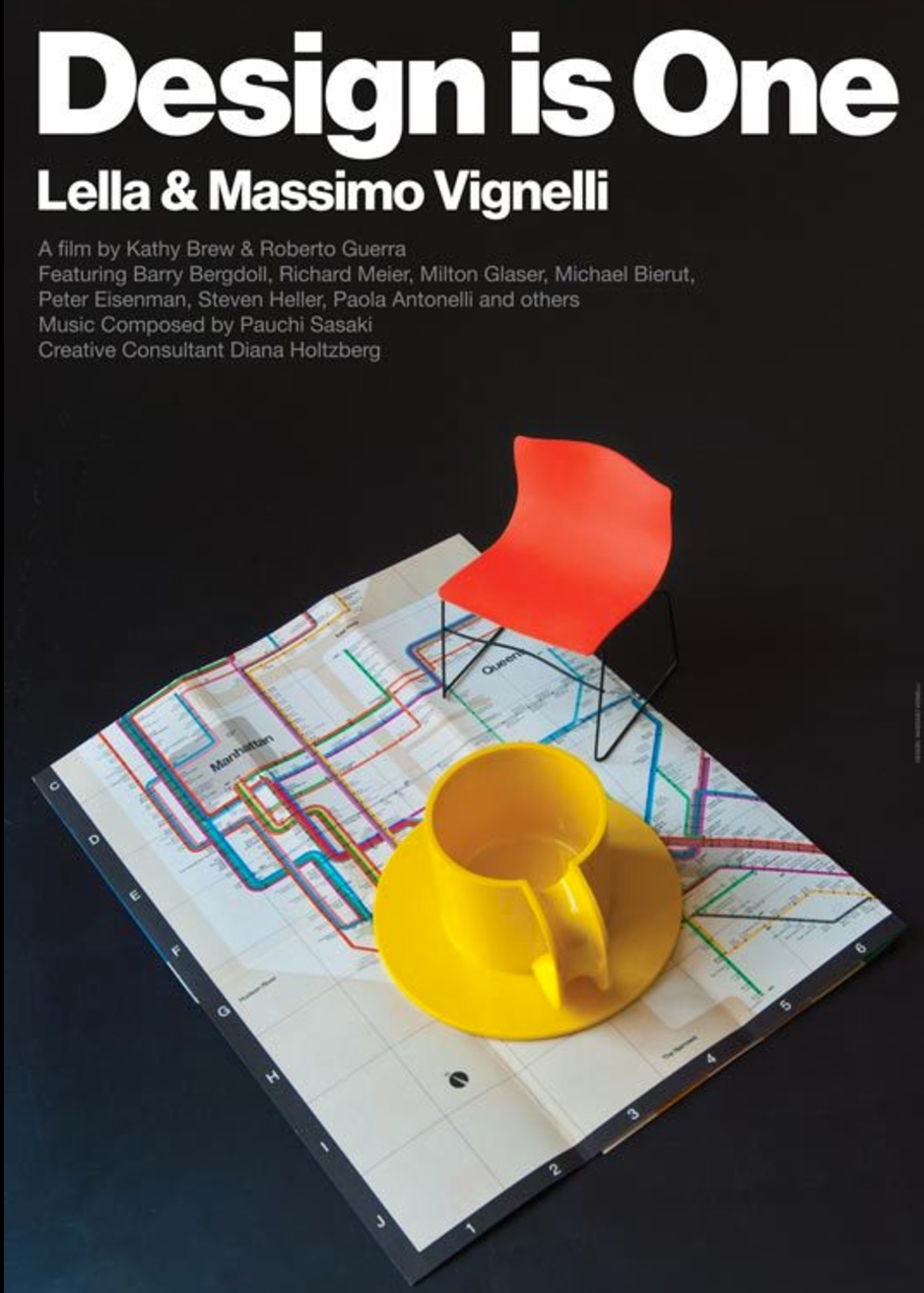 Design is One: Lella & Massimo Vignelli - 2012, USA, 90 min, in EnglishMassimo and Lella Vignelli are among the world's most influential designers and cover such a broad spectrum that one could say the Vignelli's are known by everybody, even those who don't know their names. Throughout their long career, their motto has been, 'If you can't find it, design it'.