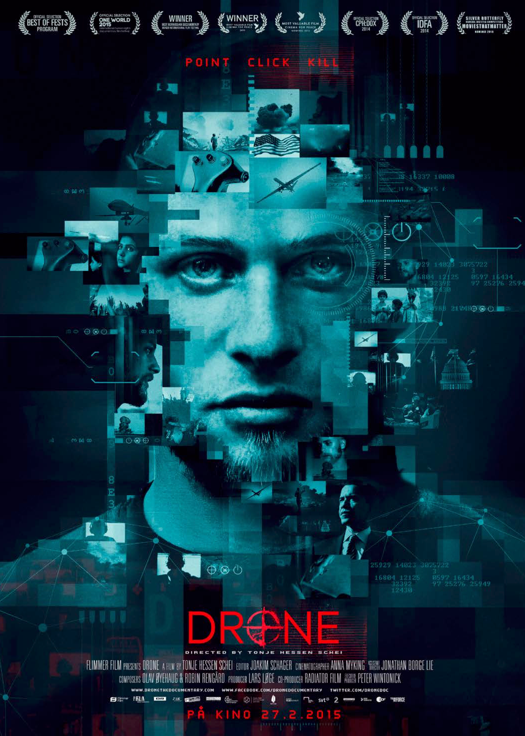 """Drone - 2015, Norway/Pakistan/USA, 78/58 min, in English/Urdu/Pashto with subtitlesFollowing people on both sides of the drone technology, Drone covers diverse and integral ground from the recruitment of young pilots at gaming conventions and the re-definition of """"going to war"""", to the moral stance of engineers behind the technology, the world leaders giving the secret """"green light"""" to engage in the biggest targeted killing program in history, and the people willing to stand up against the violations of civil liberties and fight for transparency, accountability and justice."""