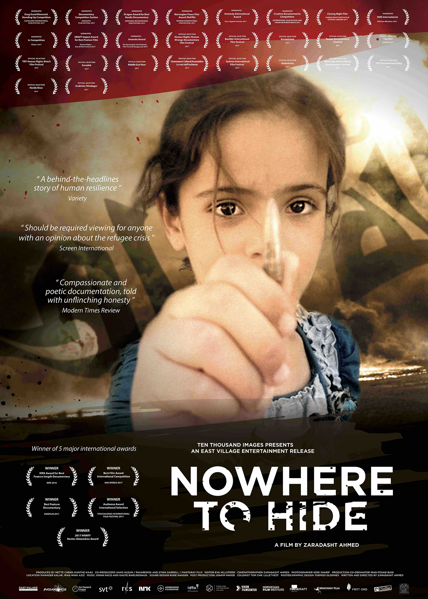 """Nowhere to Hide - 2016, Norway/Sweden, 86 min, in Arabic with subtitlesAfter the Americans left Iraq in 2011, a male nurse named Nori Sharif was asked to report on the state of his country, providing unique access into one of the world's most dangerous and inaccessible areas – the """"triangle of death"""" in central Iraq. Working in the local hospital in Jalawla, he filmed the victims of war over the course of five years. The shocking images show families torn apart, maimed and damaged by the violence in Iraq. And every day more arrive, as the conflicts continue and life is disrupted by attacks over and over again. Often it isn't even clear who the adversaries are. But the threat level increases, and when the Iraqi army pulls out in 2013 because of militant groups, the population flees – accompanied by the majority of the hospital staff. Sharif is one of the few who remain. When IS advances on Jalawla in 2014 and finally takes over the city, Sharif continues to film. Then he too has to flee at a moment's notice, to bring himself and his family to safety."""
