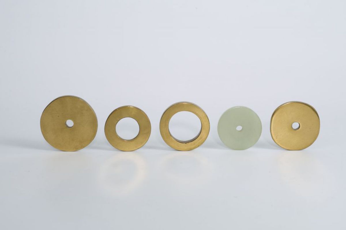 Brass and Jade Rings