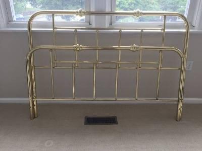 Queen Sized Brass Headboard - $75