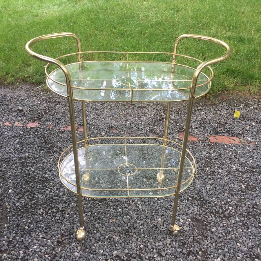 Brass Bar Cart - $100