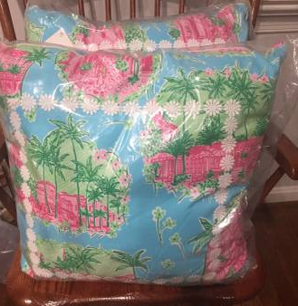 PAIR OF LILLY PILLOWS - $85