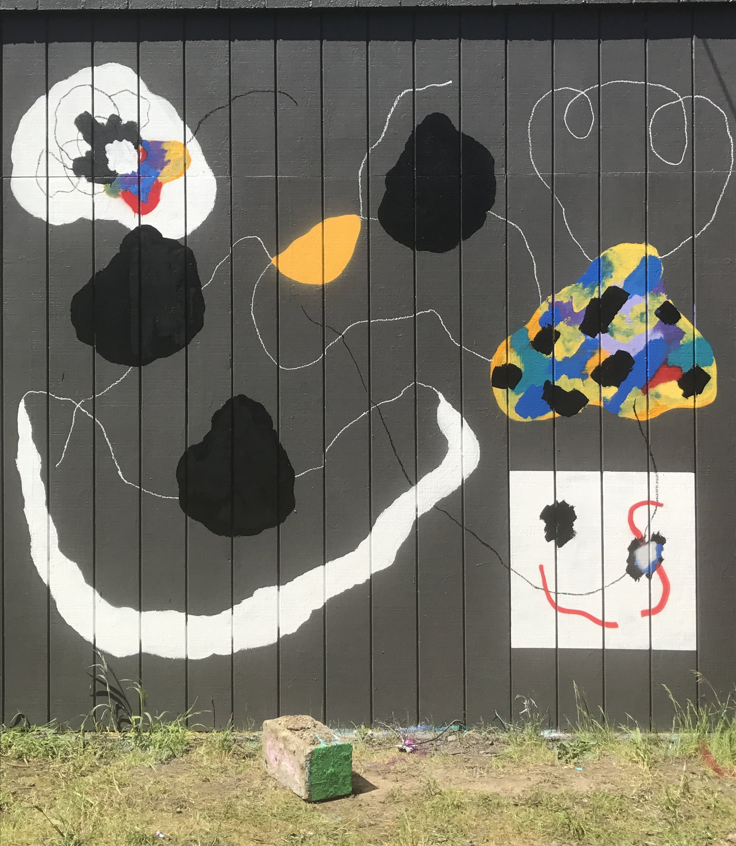 Collaborative mural in Portland, OR 6/2017