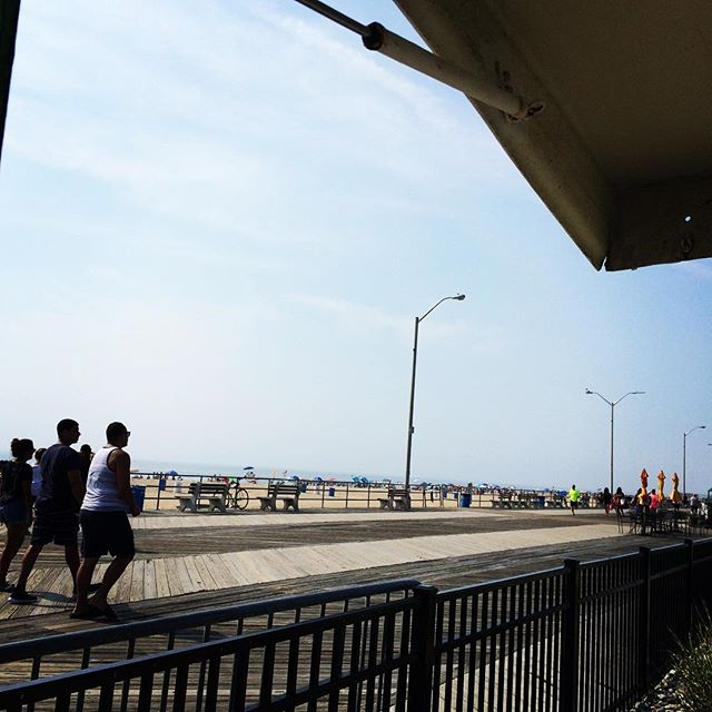 Live view from Mini golf! Happy Sunday everyone! #sunday #sundayfunday #jerseyshore #beachday #summer #sun #asburypark #boardwalk #sunscreen 😎🌊☀️