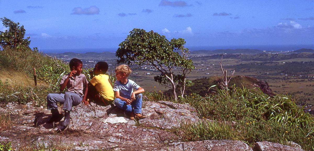 """The Club"" - Antigua c.1983 (Dan on the right)"