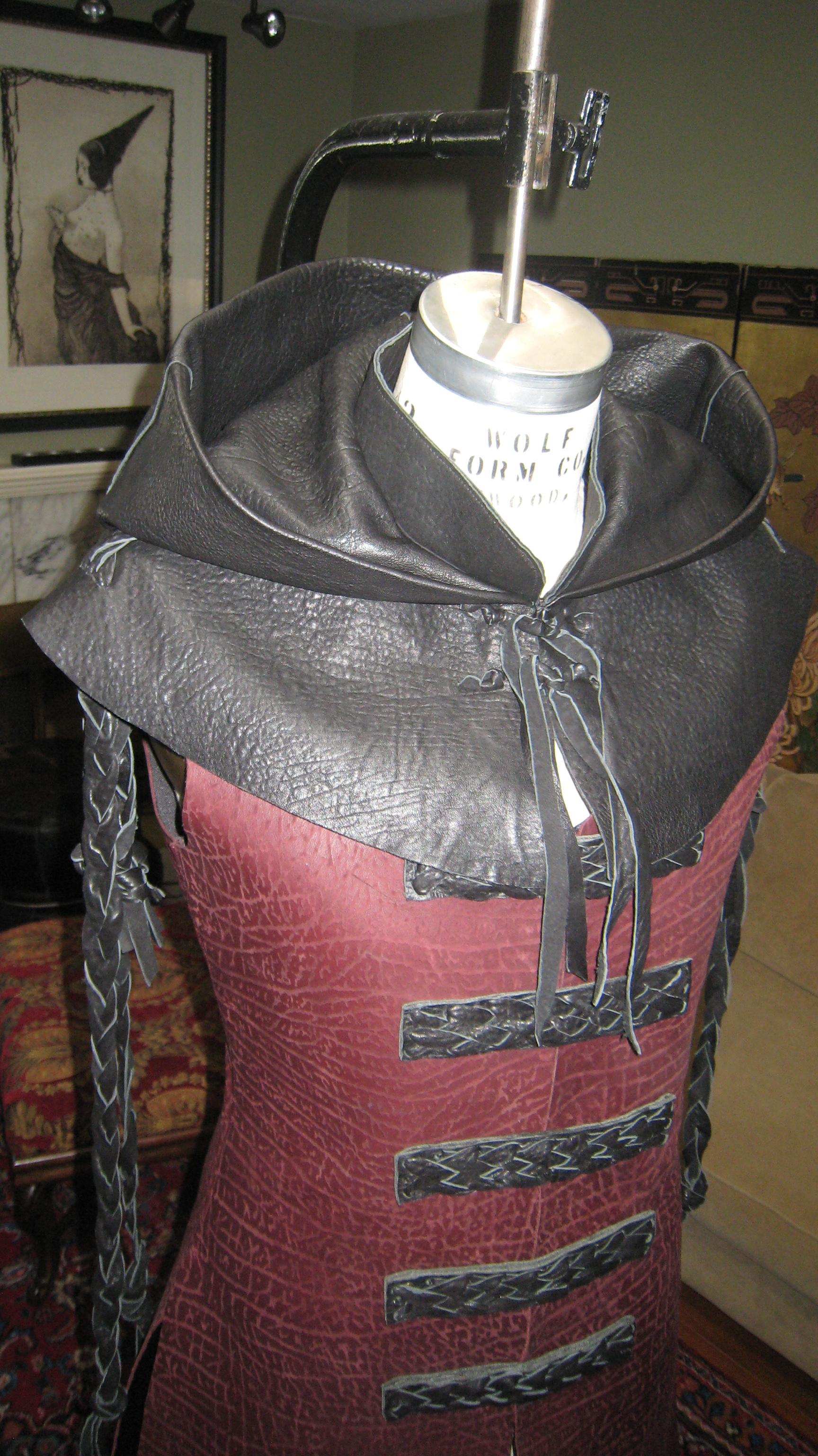 Alien Ambassador - Leather Coat & Hood
