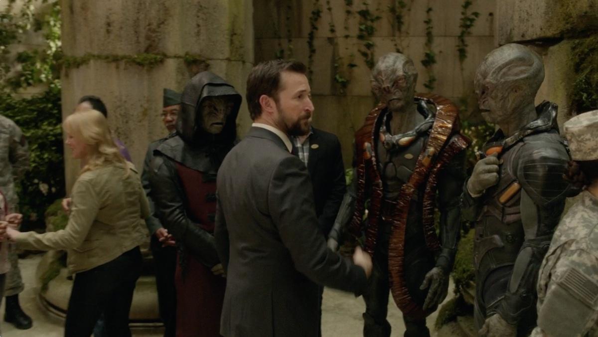 Alien Ambassador - Leather Burgundy & Black Coat and Hood