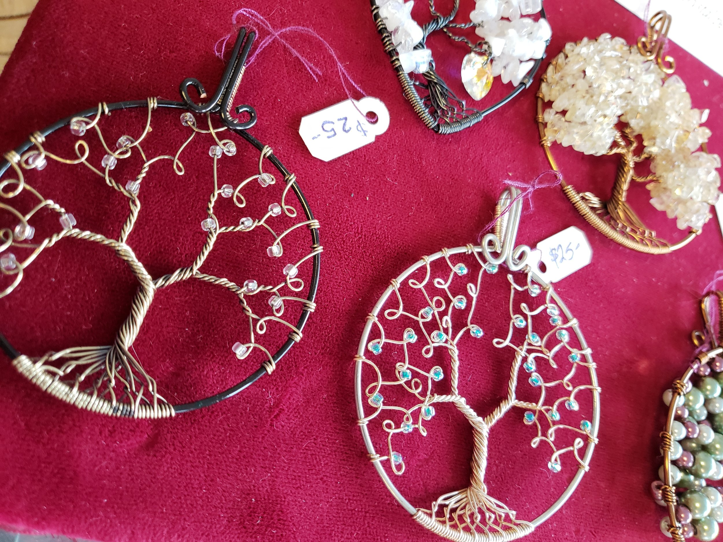 Wire Tree Pendents