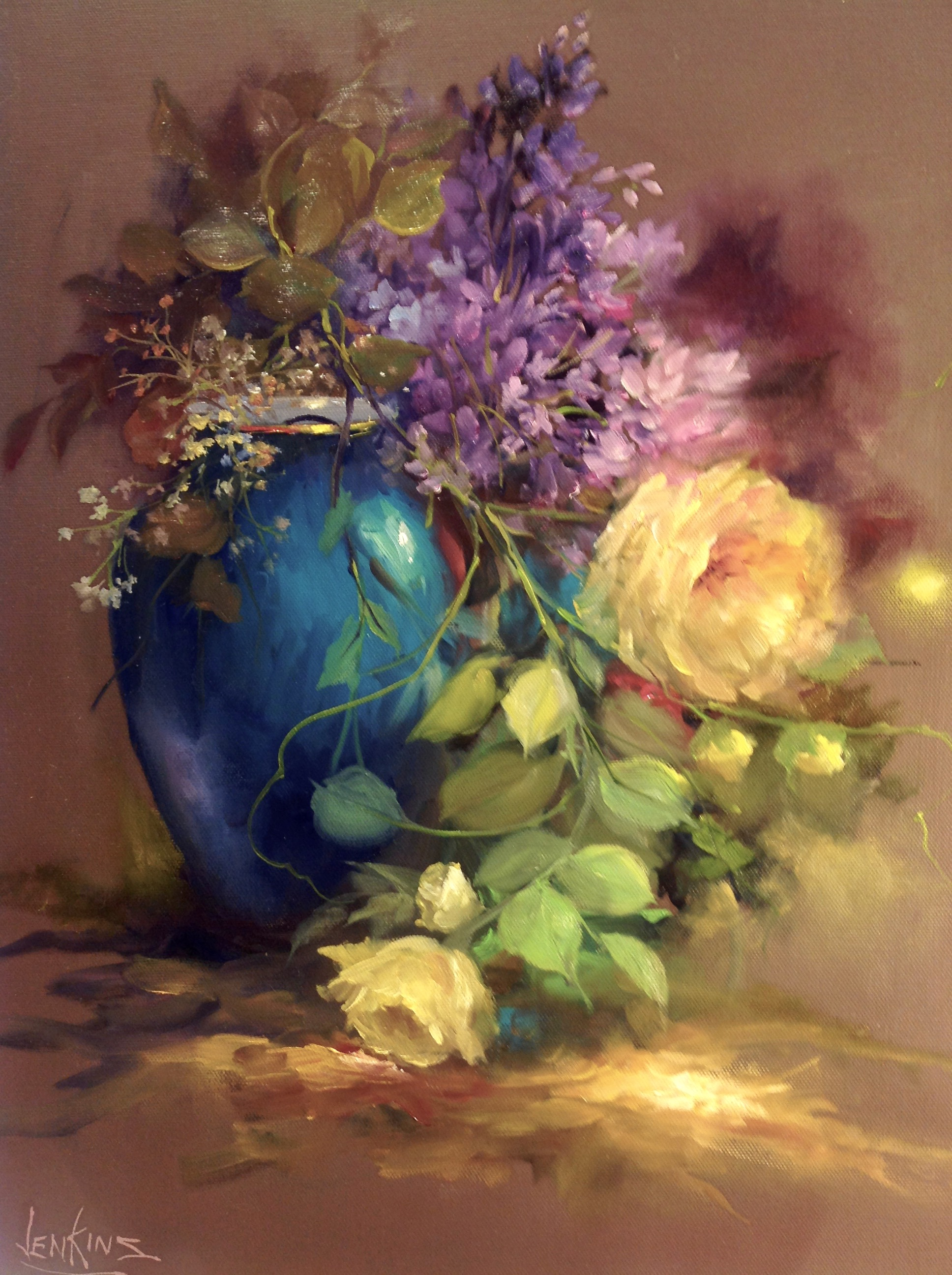 The painting is NOT part of our online   ''PAINT WITH PASSION '' course.