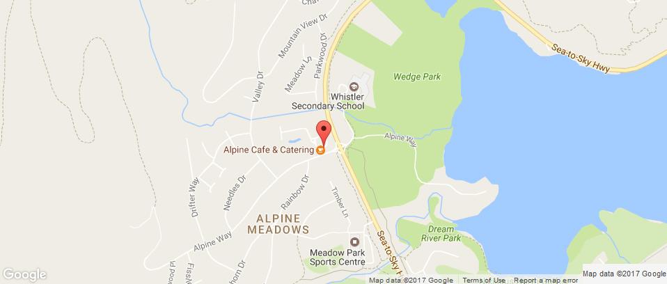 Alpine Cafe Map