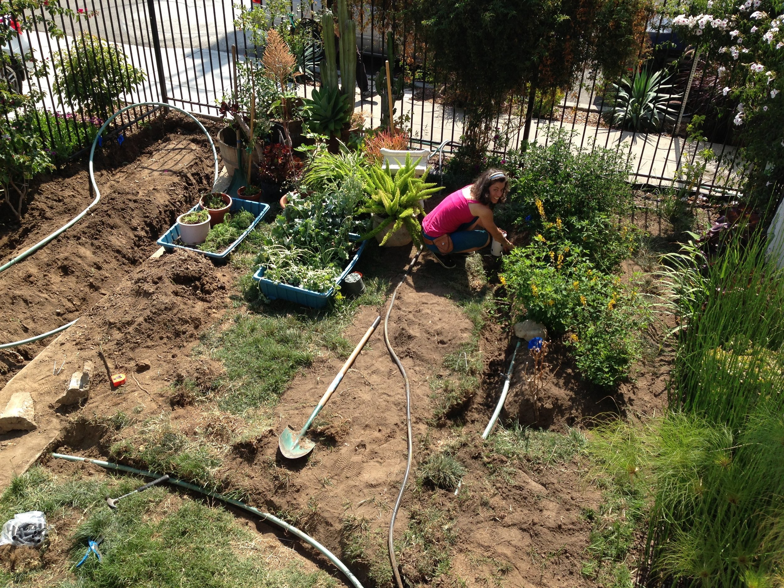 Greywater Action Install, LA Ecovillage