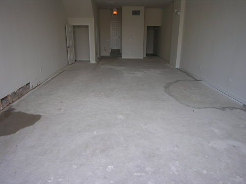 New Concrete Floor of Clothing Boutique Prior to Acid-Staining