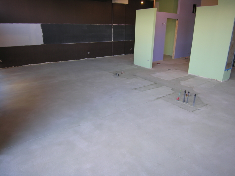 Concrete Floor Ground and Cleaned Before Acid-Staining