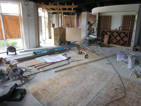 New Concrete Floor of Chicago Area Italian Restaurant Prior to Acid-Staining
