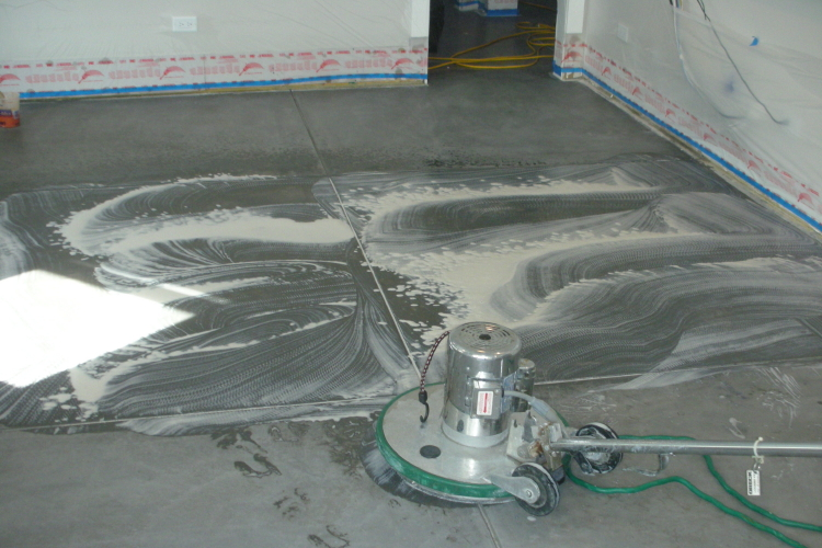 Chemical Stripping Of Clear Sealer On New Basement Concrete Floor