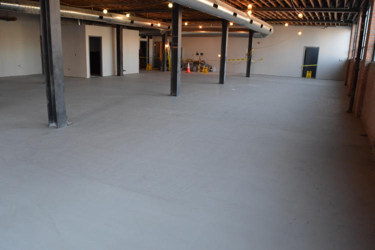 Ardex SDT New Cement Overlay of Old Factory Floor Before Application of Clear Sealer