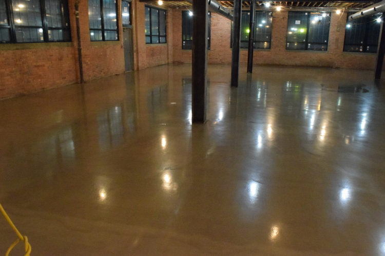 Ardex SDT New Cement Overlay of Old Factory Floor With Clear Epoxy Sealer