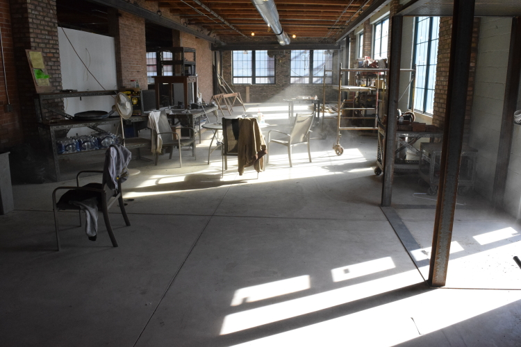 New Concrete Floor In Old Factory During Build-Out Process