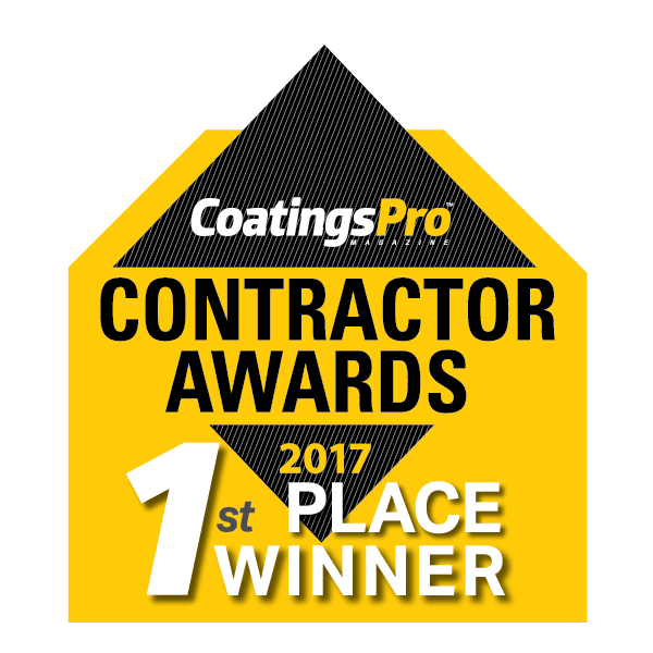CoatingsPro Magazine's 2017 Contractor Awards Program First Place Winner's Badge
