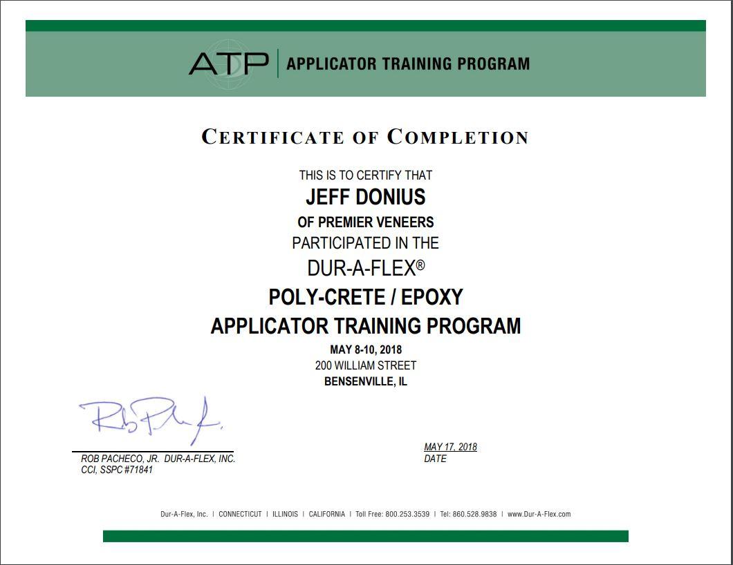 Dur-A-Flex Certification.JPG