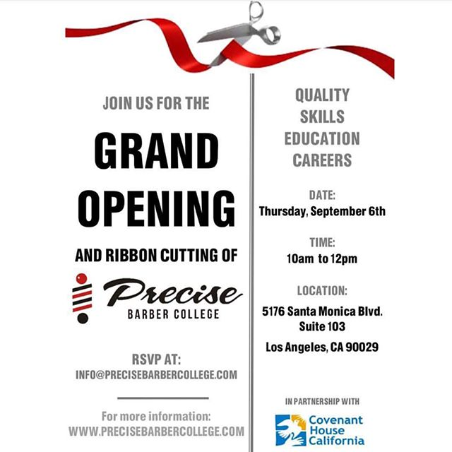 OUR GRAND OPENING AND RIBBON CUTTING IS A WEEK AWAY AND WE COULDN'T BE MORE EXCITED! COME JOIN US AND GET A TOUR •• 5176 SANTA Monica Blvd. Los Angeles Ca 90029