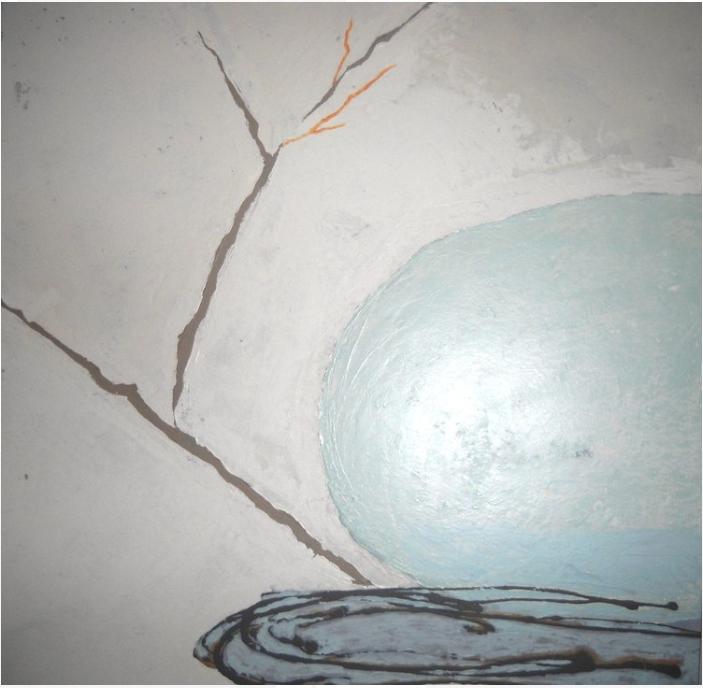 "Nesting | 55""h x 54""w | Acrylic | SOLD"