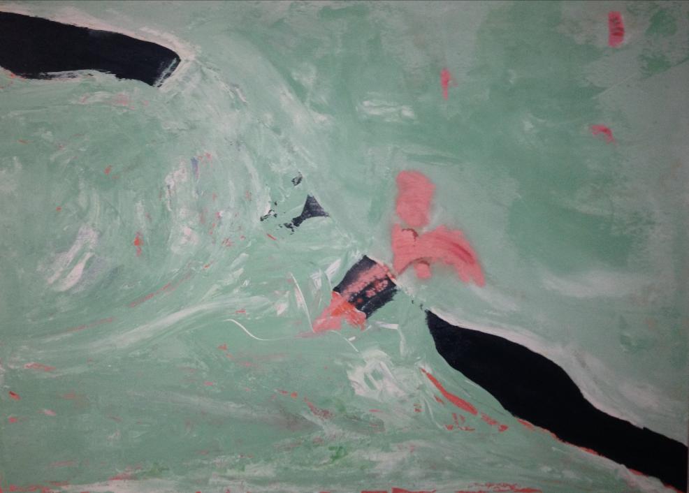 "Wabi Sabi | 40""h x 55""w | Acrylic on Canvas | Abstract Art | Dandridge Art | $2800"