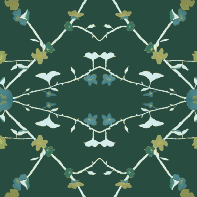 Dandridge Art | Wallpaper | 70's Floral | Teal Wallpaper.png