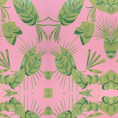 Dandridge Art | Wallpaper | Pink & Green Palm Fronds.png