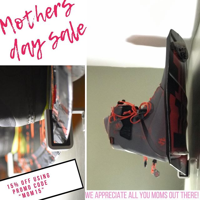 "For you awesome moms who shred! —— Take 15% off your snowboard or wakeboard mounts using promo code ""MOM15"" at checkout! 😎 —— ▶️ boardgrabs.com —— #mothersday #mothersdaygifts #boardgrabs #boardmounts #wallmounts #wake #prowake #wakeboard #wakeboarding #wherethewaketakesyou #wakeboard #snow #snowboards #snowboarding #lakewakelife #wakeboatporn #wakeboatsurfing #wakeboats #lakelife #h2oaddicts #owc #mastercraft #malibuboats #superairnautique #moomba #moombaboats #moombamasters"