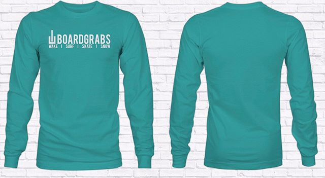 "Get your SeaFoam long sleeve at boardgrabs.com! These bad lads are the comfiest shirt around —— Use code ""SEAFOAM"" for free shipping —— #boardgrabs #shirts #wake #snow #surf #wallmounts #wakeboarding #surfing #snowboarding #snowboards #surfboards #wakeboards #wherewaketakesyou #pwt #prowaketour #mastercraft #malibu #nautiqueboats #tanksfilled"