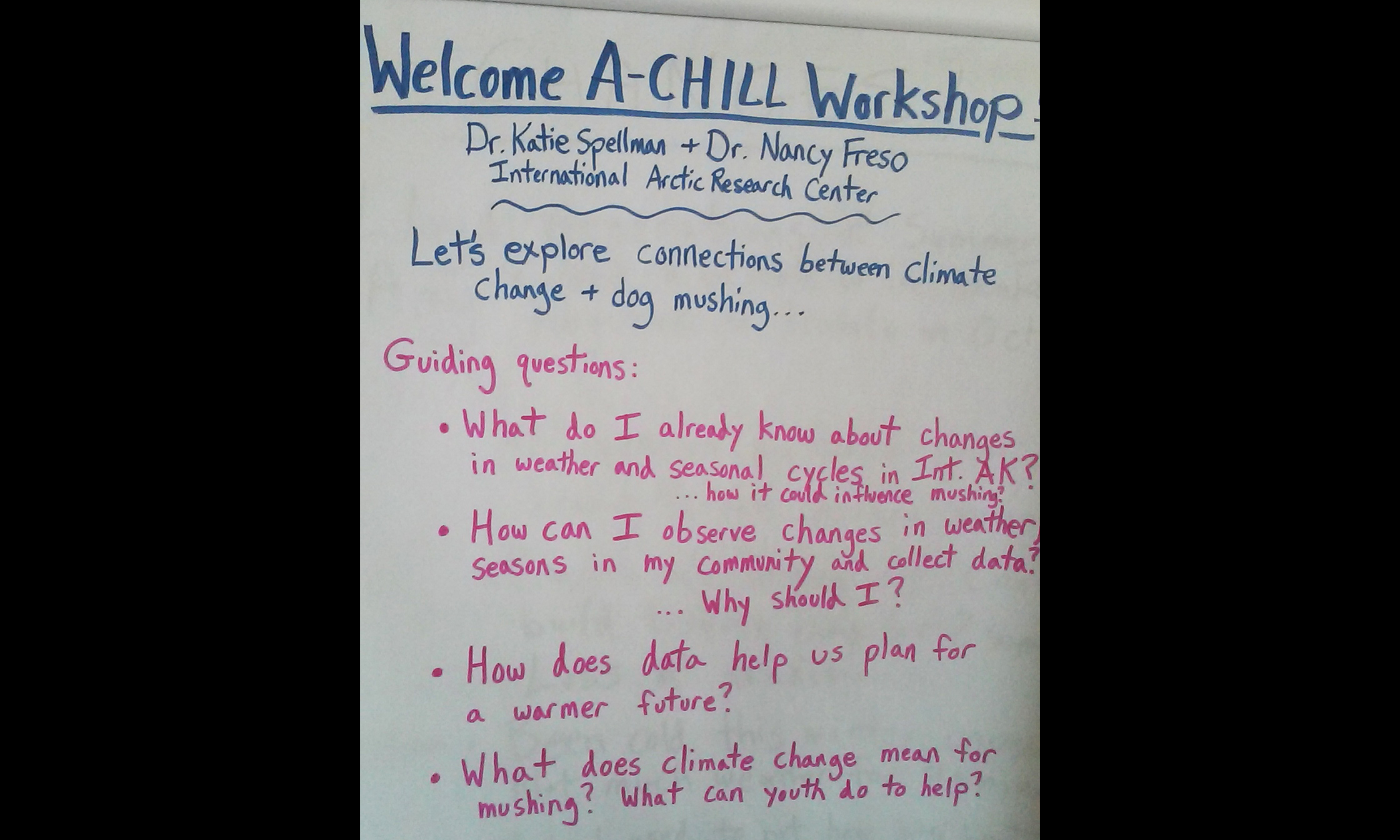 Guiding questions on climate changes