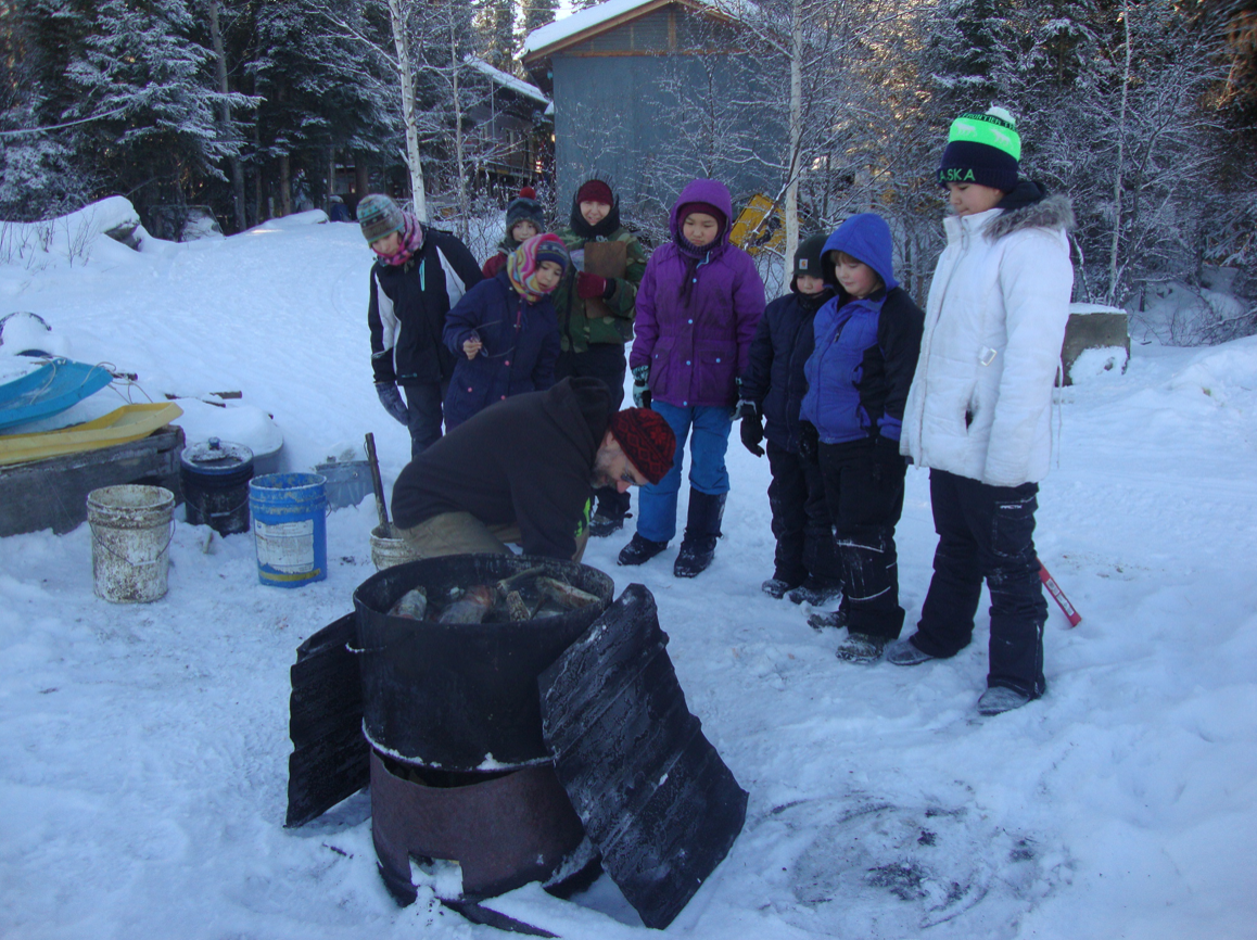 Eagle School students learn about cooking food for dogs.