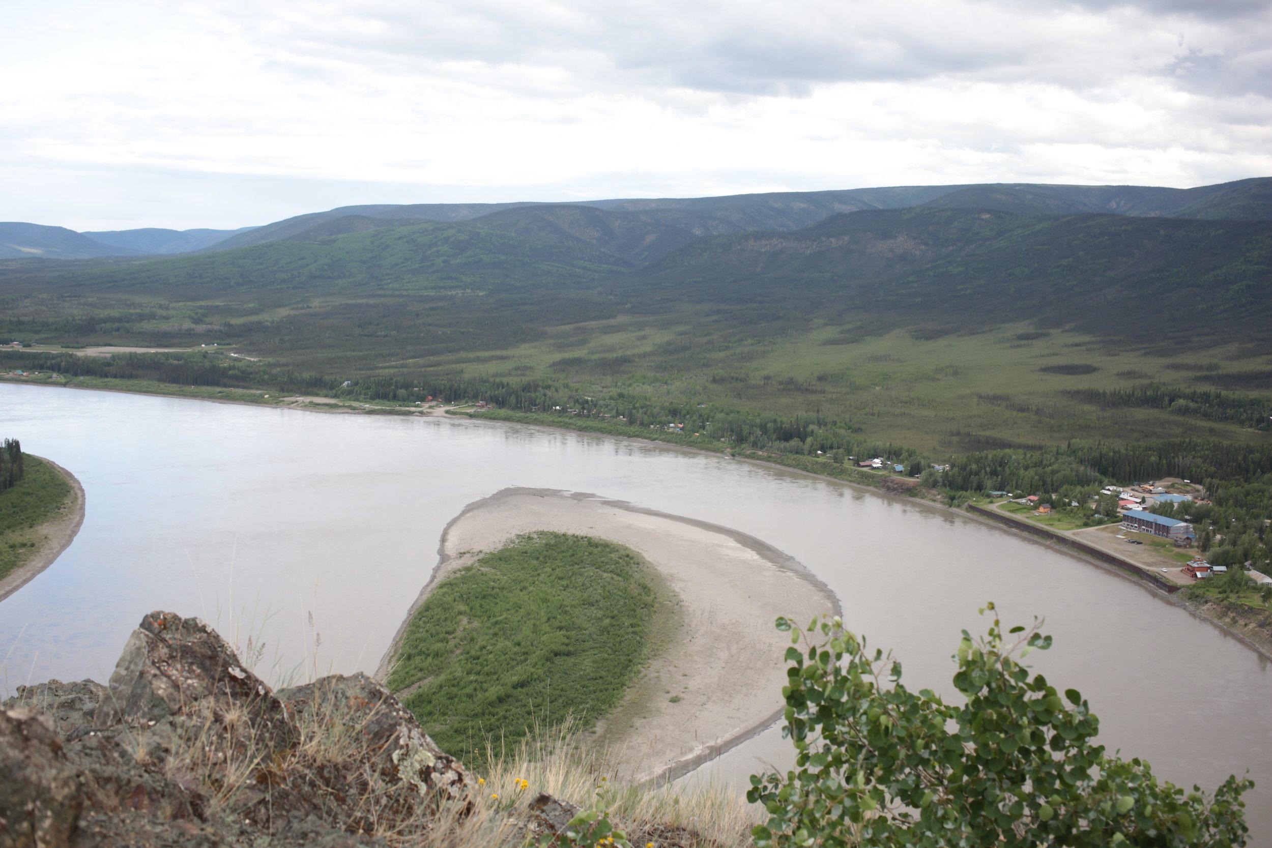 The Eagle community along the Yukon River.