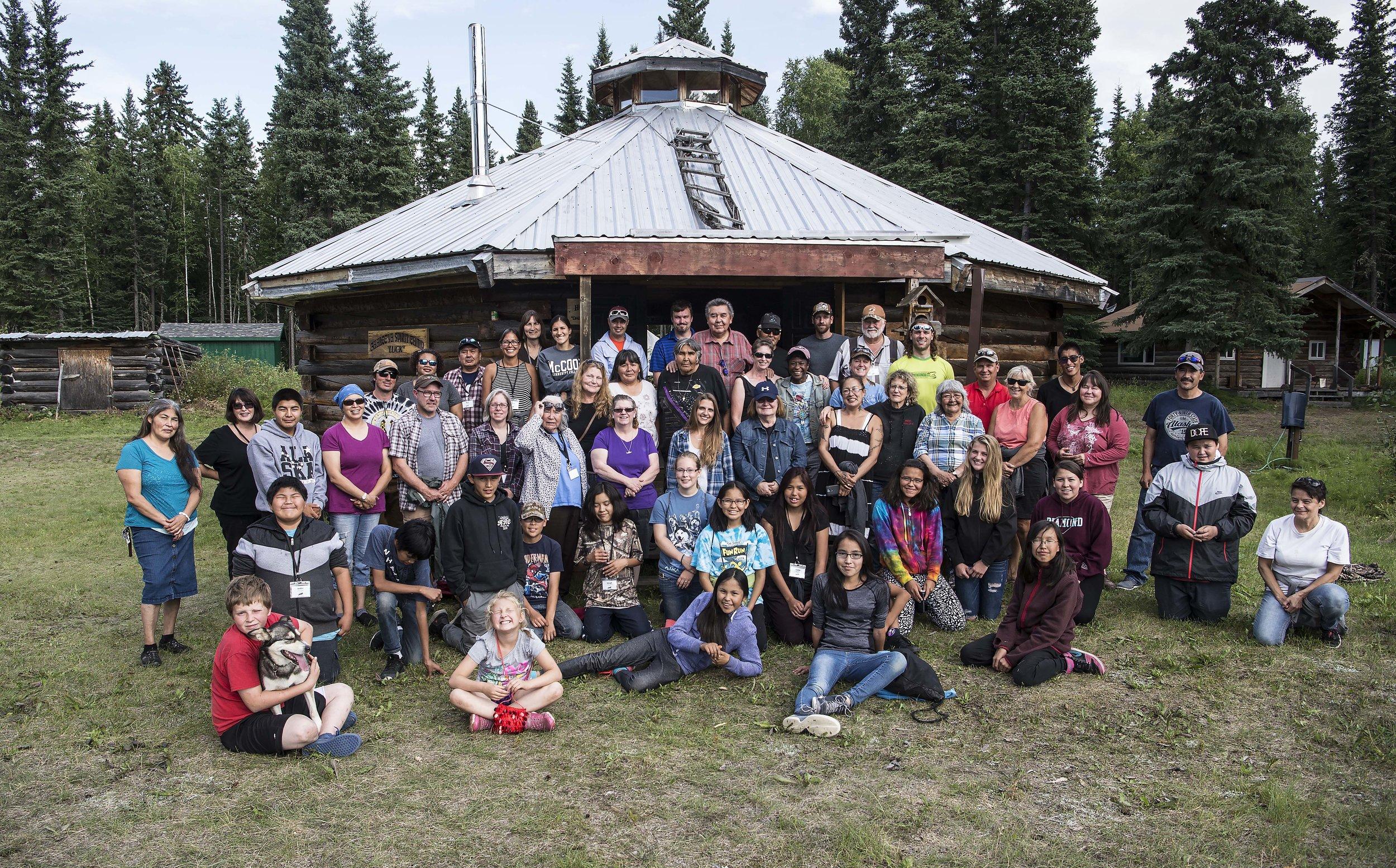 Group photo at Howard Luke Camp.