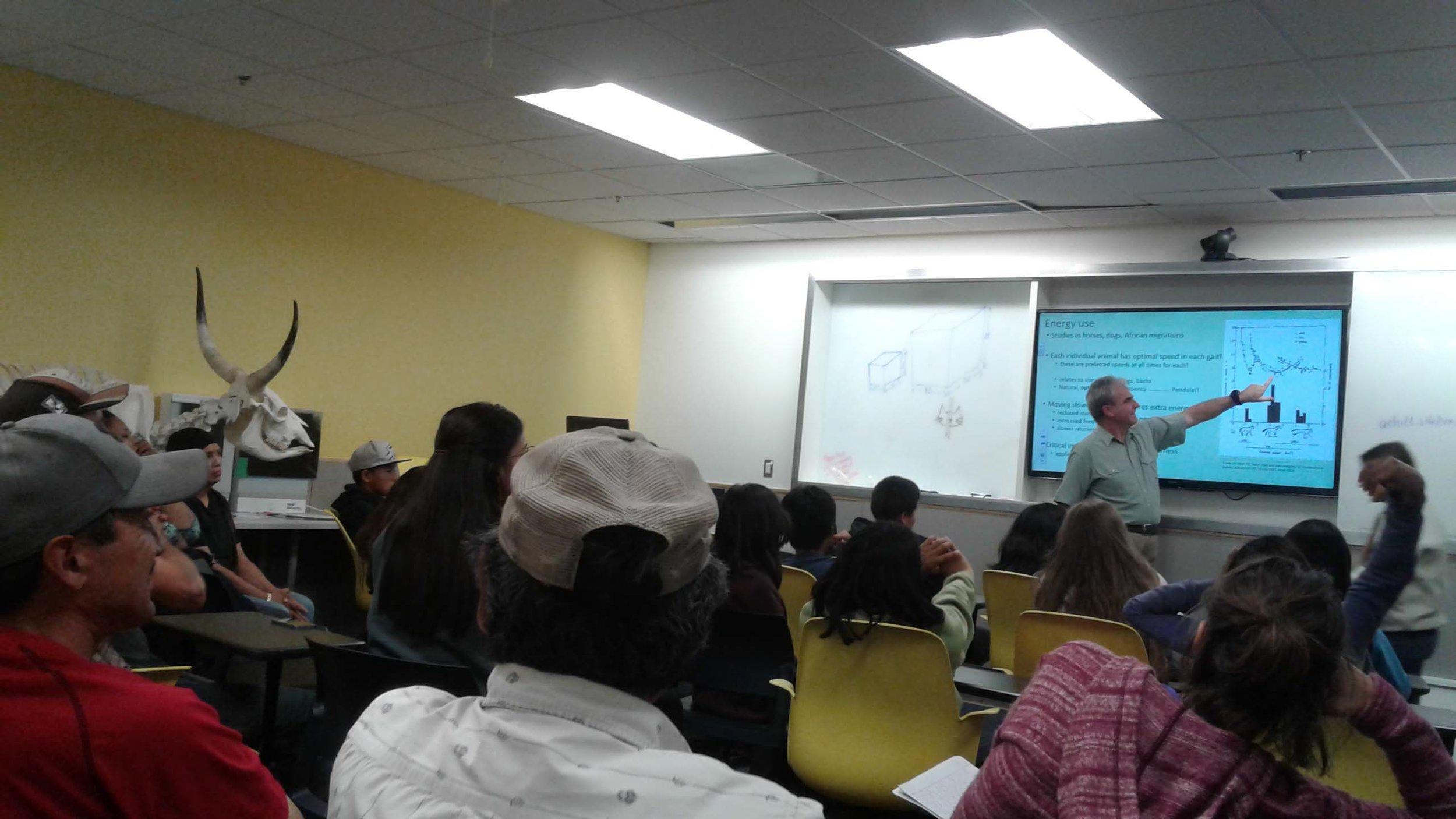 UAF Dept of Vet Medicine Professor, Dr. Vaughan Seed, teaches sled dog physiology.