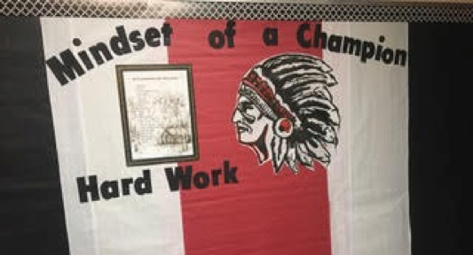 """This is our """"Warrior Board"""" with our Athabascan Values motto."""