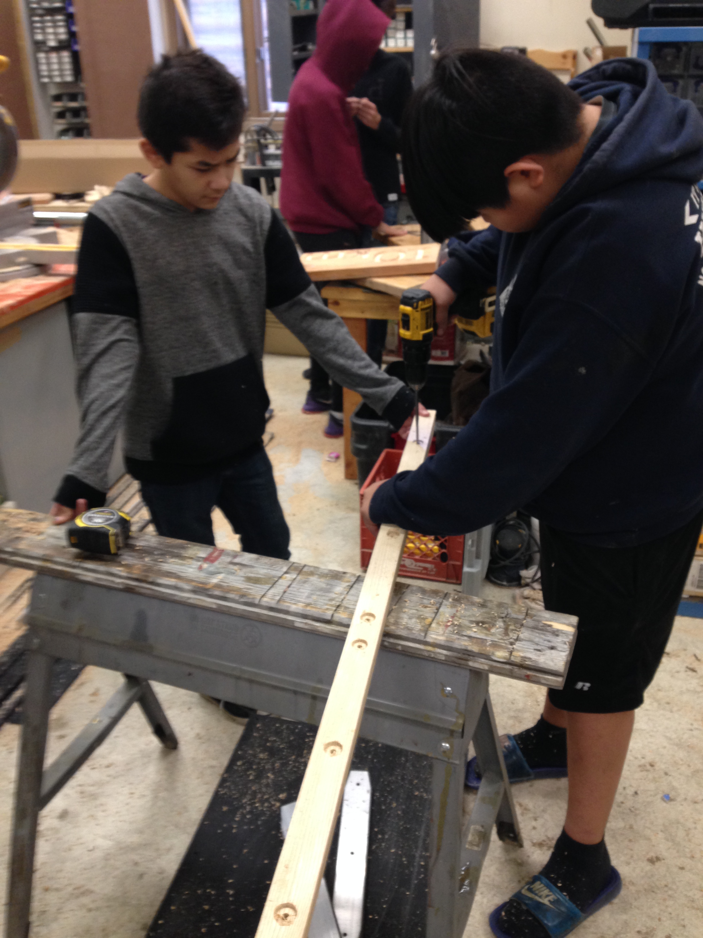 Students drilling some of new runners.