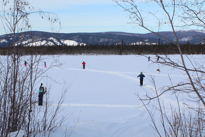 Students skiing.