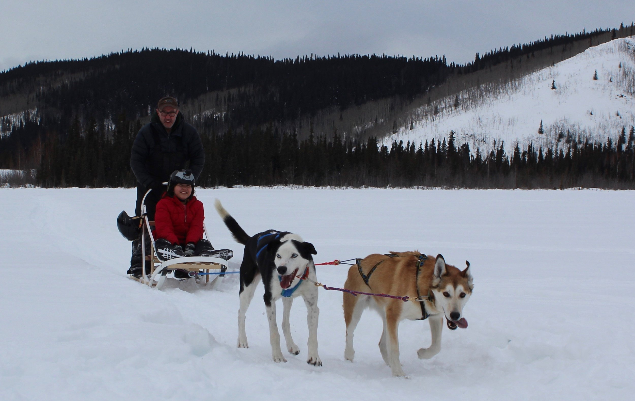 Sled ride.