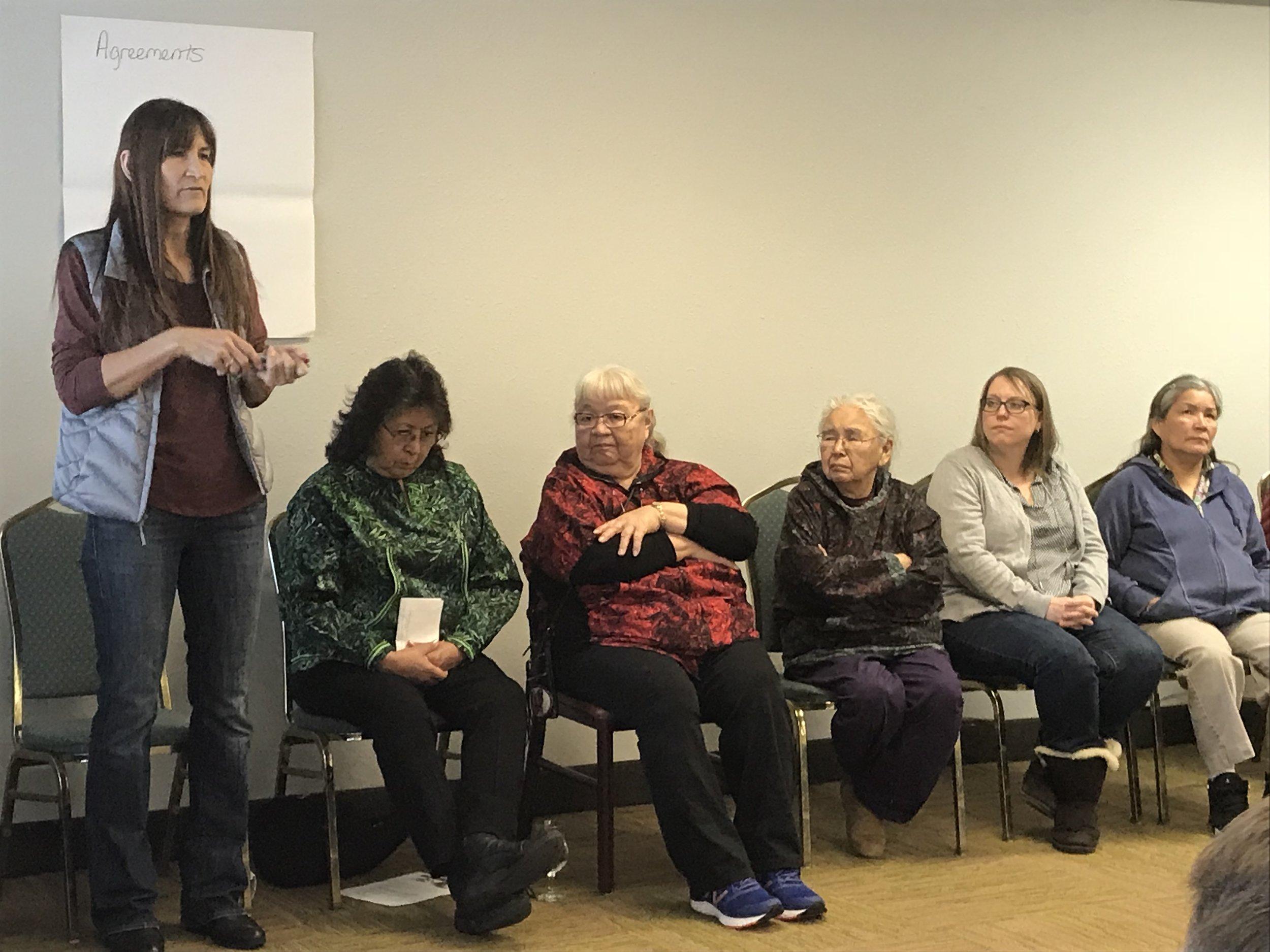 Facilitator Malinda Chase (AINE) kicks off the two-day workshop.