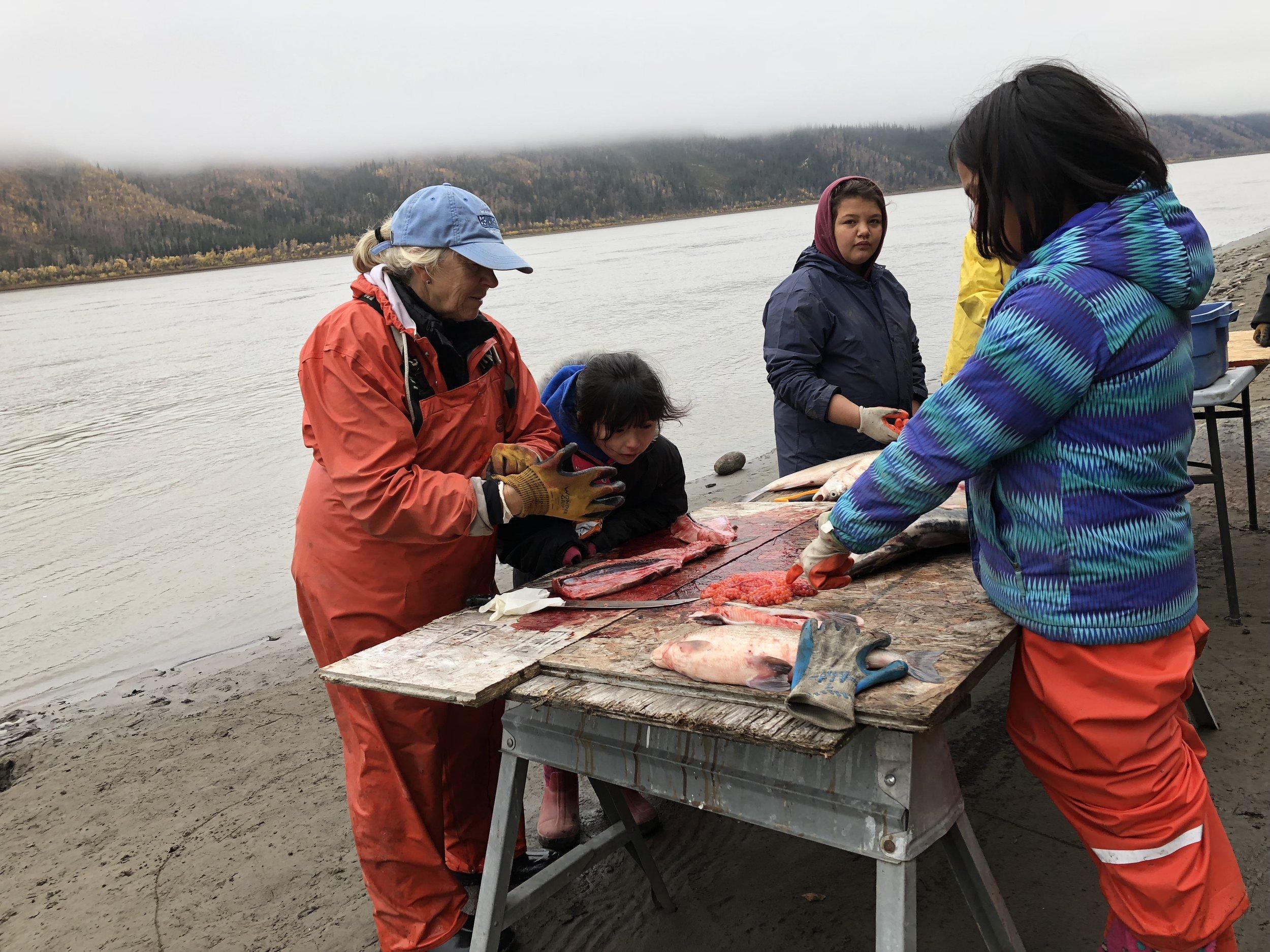 Demonstrating fish cutting.jpg